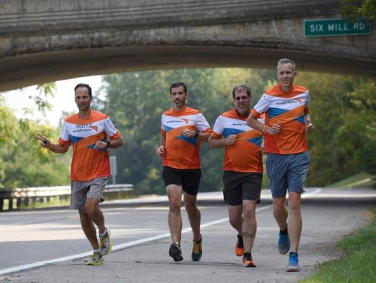 Scott Molitor (left), Ron Wells, Kevin VilleMonte and