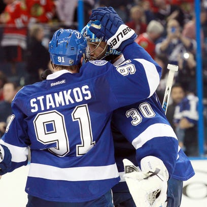 Ben Bishop made 28 saves for his second shutout, Steven
