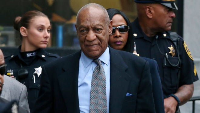 Bill Cosby leaves after a hearing in his sexual assault case In November at the Montgomery County Courthouse in Norristown, Pennsylvania.