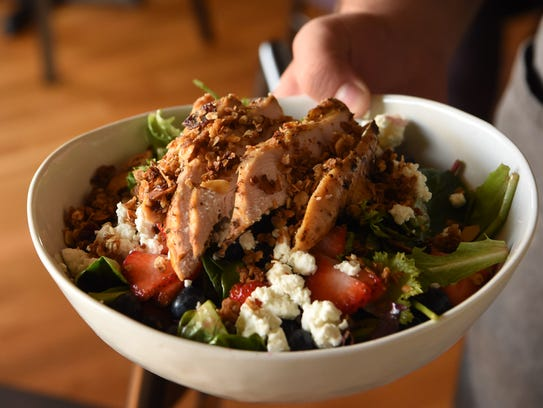 The Summer Berry Salad, served at Lola's Cafe in New