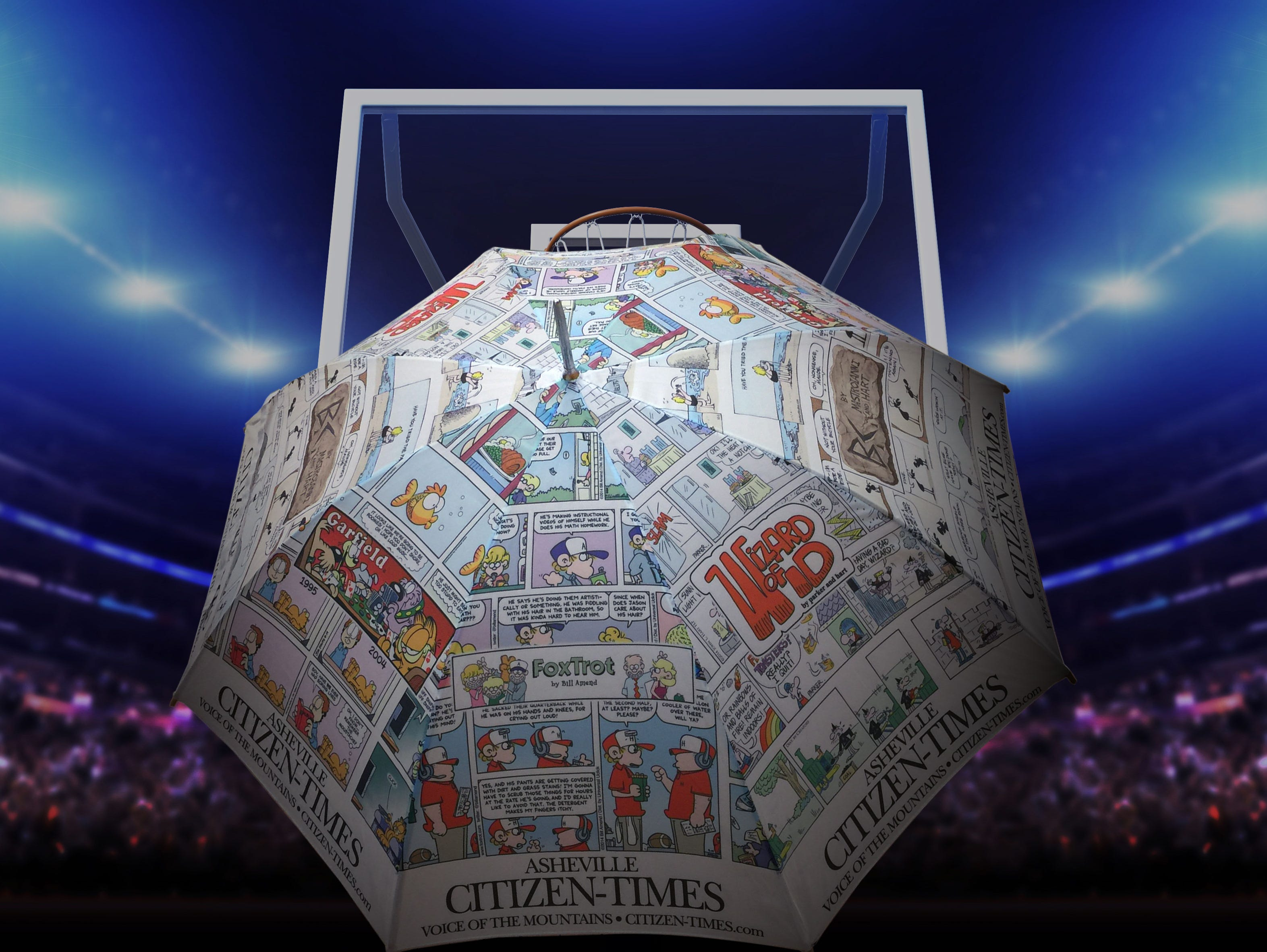 You can now own one of our famous comic umbrellas! Claim your FREE umbrella before they run out!
