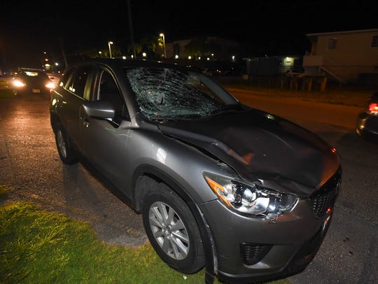 A Mazda CX-5 was involved in a crash on Ypao Road,