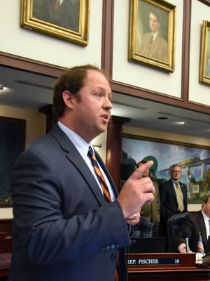 Florida Rep. Jayer Williamson, R-Pace, speaks on the floor of the Florida House of Representatives.