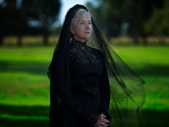"Helen Mirren is a firearms heiress worried she's being haunted by those killed by her guns in the horror film ""Winchester."""
