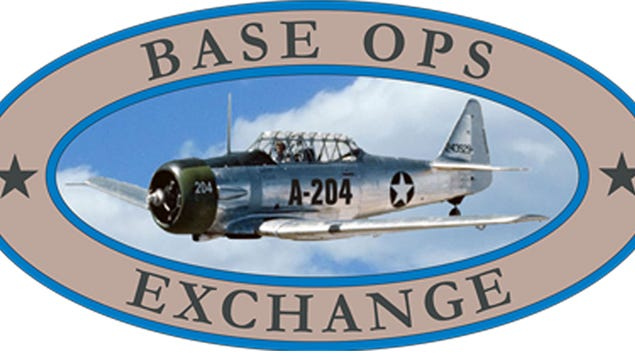 The Exchange Gift Shop is located in the main lobby area in the Base Ops building at Page Field in Fort Myers. It is the only building on Captain Channing Page Drive and on the left side of the lobby area.