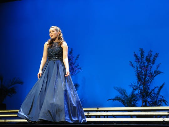 Distinguished Young Women of York County 2018-19 winner, Rachel Ritchey sings for the talent portion of the competition.