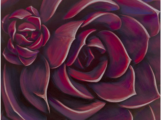 Deep Red Rose Outdoor Canvas.