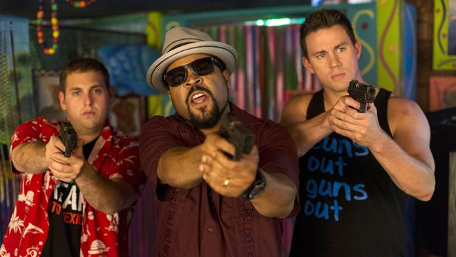 """Jonah Hill, from left, Ice Cube, and Channing Tatum in """"22 Jump Street."""""""