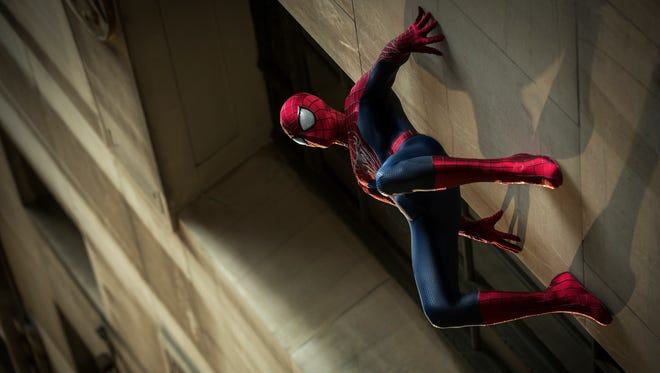 """Andrew Garfield stars as Spider-Man in Columbia Pictures' """"The Amazing Spider-Man 2."""""""