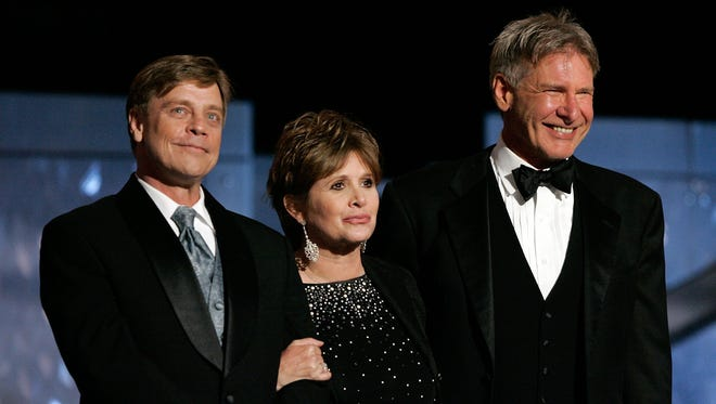Actors Harrison Ford, Carrie Fisher and Mark Hamill have been included in the cast for 'Star Wars: Episode VII', which has been announced today.