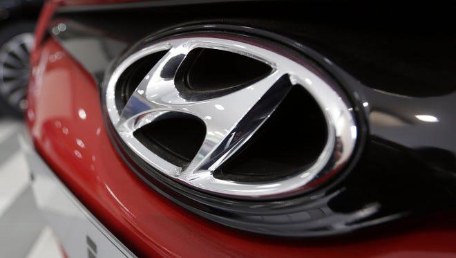 The logo of Hyundai Motor Co.