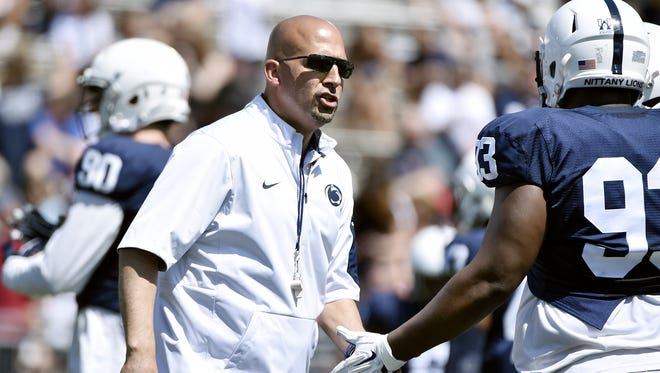 James Franklin has landed three offensive line recruits since the Blue-White Game last week. That's nearly half of their class, so far.