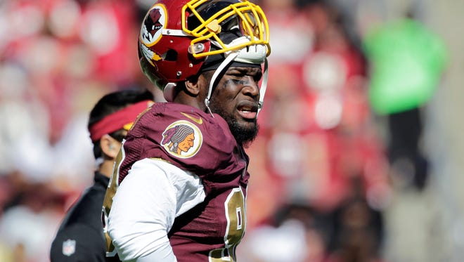 New Titan Brian Orakpo's last game last season for the Redskins was against the Titans because of a torn pectoral muscle.