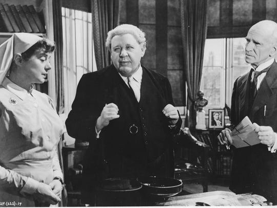"""A scene from 1957's """"Witness for the Prosecution,"""" which screens at the 2018 Arthur Lyons Film Noir Festival in Palm Springs and stars Tyrone Powers and Ruta Lee,"""