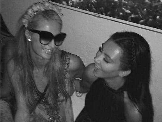 Kim and Paris (c) Kim Kardashian Instagram