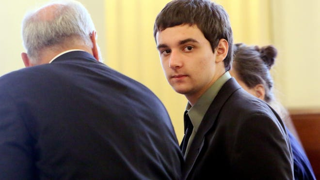 Samuel Vonachen during his 2017 trial for murder in the death of his mother and sister.