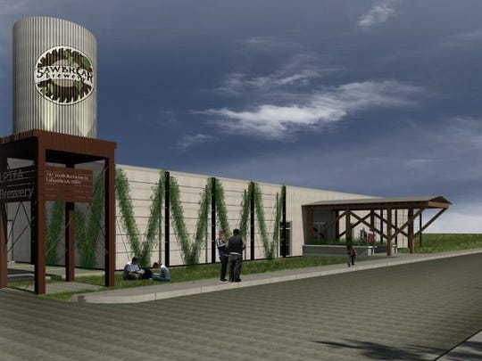 This rendering shows what Sawbriar Brewery could look