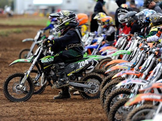 Riders get ready for a chance to practice at the Chillitown