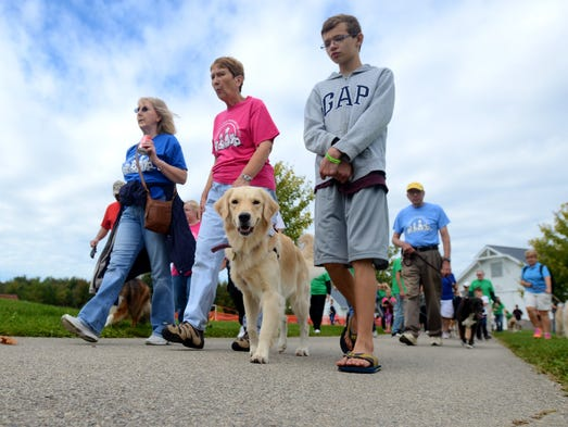 Dogs walk for a cause at Goodells County Park