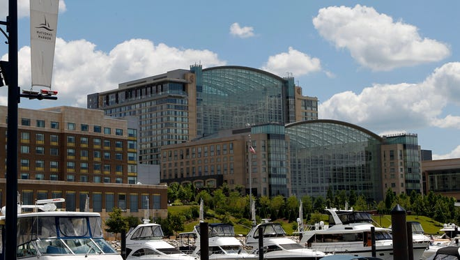 National Harbor, Md., a hotel and retail development near the nation's capital, has joined popular convention destinations like Orlando, Chicago and Las Vegas on a list of top spots for group travel.