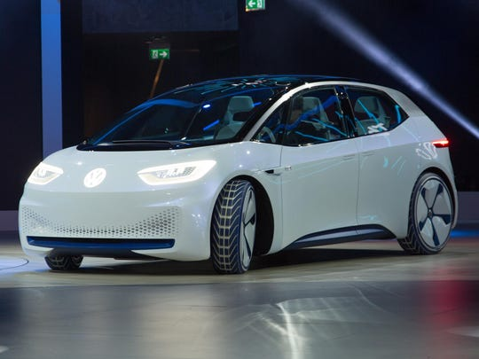 The ID.3 is Volkswagen's first in a new range of battery-powered
