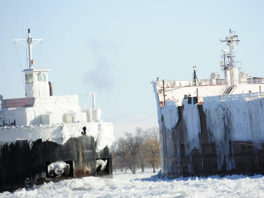 The Erie Trader and the James R. Barker approach each