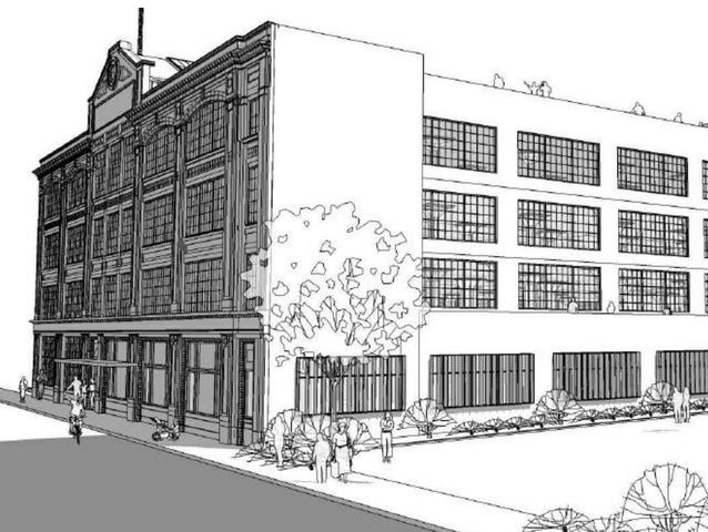 The four-story, 200-square-foot Ford Manufacturing Co. plant at 1315 E. Washington St. is slated to be developed into 132 apartments, retail space and the new headquarters for the TWG development company.