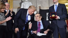 Former senator Bob Dole receives Congressional Gold Medal in Capitol ceremony