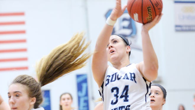 Holly Banks (34) and Enka are the hosts for next week's Mountain Athletic Conference basketball tournament.