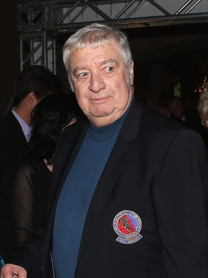 Buffalo Sabres broadcaster Rick Jeanneret arrives for the Hockey Hall of Fame induction ceremony at Brookfield Place.