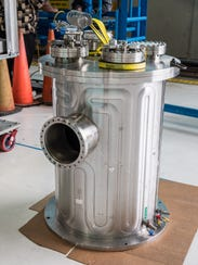 The assembled Kilopower experiment enclosed in a vacuum