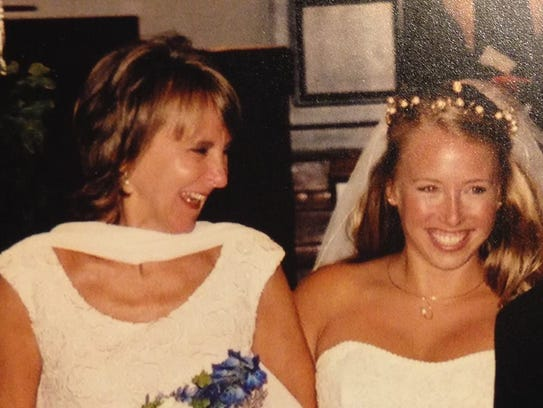 My mom and me, on my wedding day in 2004.