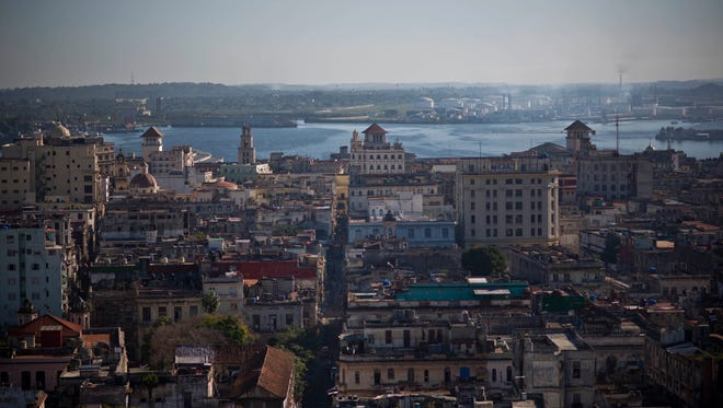 This Dec. 30, 2014 photo shows Havana from the capitol dome in Havana, Cuba.