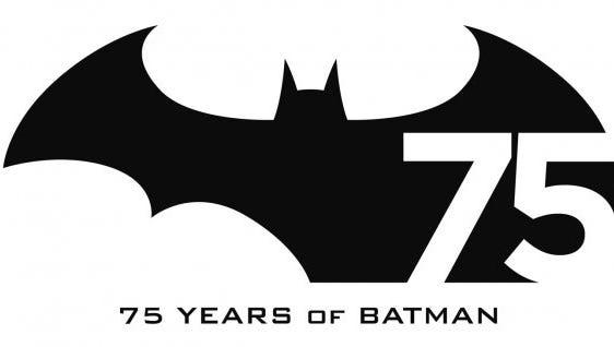Batman's 75th anniversary logo