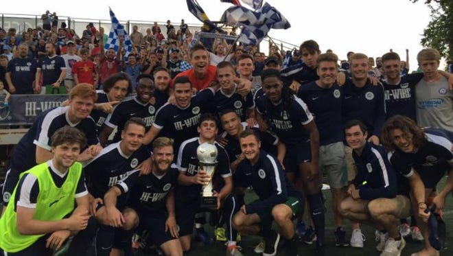 Asheville City Soccer Club after winning the team's first Blue Ridge Classic against the Tri-Cities Otters May 17.