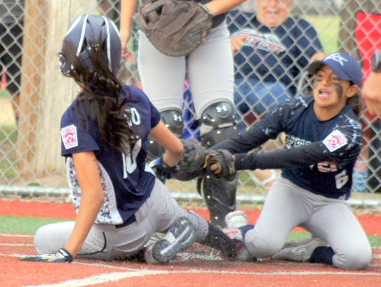 Silver City All Star Lisa Lucero covered home plate