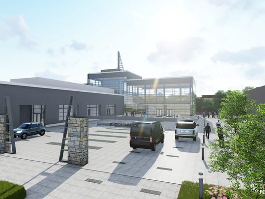 A design rendering of the Fox Cities Exhibition Center.