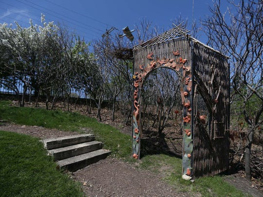 The Aviary: A Migratory Bird Hatchery tree house by Ryk Weiss at Reiman Gardens in Ames on Tuesday, May 5, 2015. The house is meant to increase the awareness of migratory birds.
