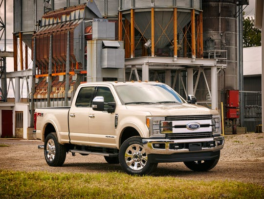 The 2017 Ford Super Duty lineup will be shown Thursday,