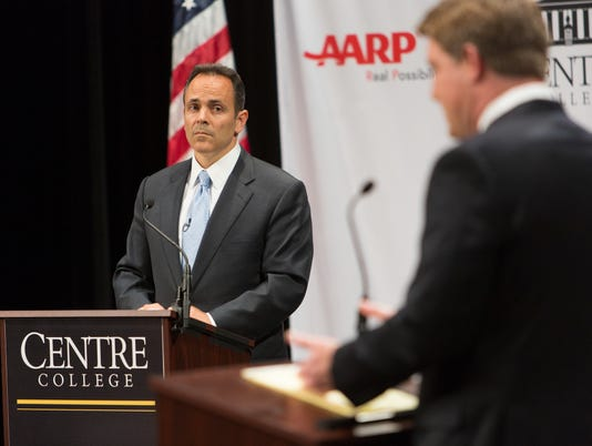 Democrat Jack Conway and Republican Matt Bevin squared off Tuesday night in the second televised debate of the 2015 election.The two candidates are locked in a tight race to become KentuckyÕs next governor. The most recent Bluegrass Poll showed Conway