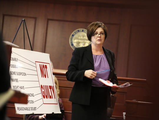 Defense Attorney Melynda Cook Howard speaks to a jury in this 2015 file photo.