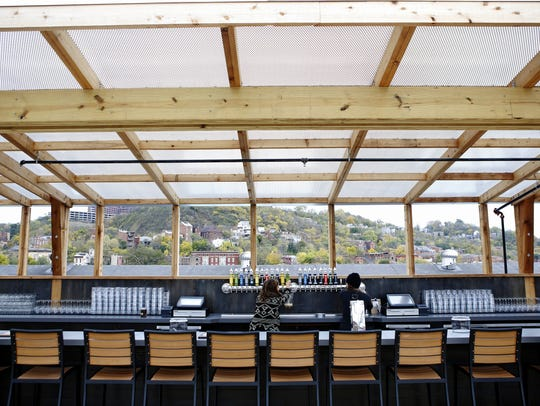 Rhinegeist's new roof deck has a 24-foot draft bar,
