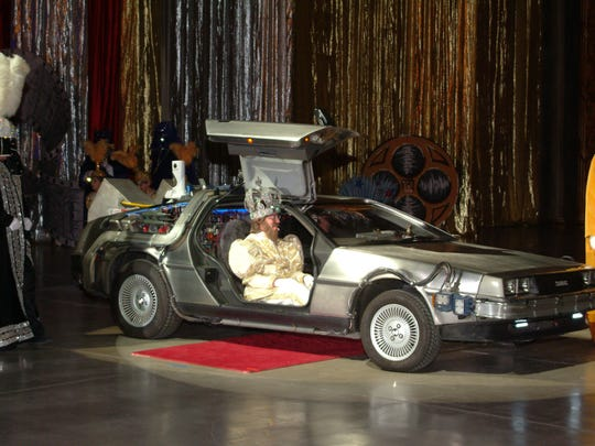 King Montala LV arrived in the DeLorean Time Machine at the Grand Ball hosted in Montgomery Saturday night by the Krewe of the Phantom Host (Courtesy of Paul Robertson Photography)