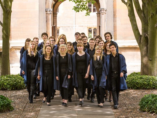 The Choir of Gonville and Caius College performs two