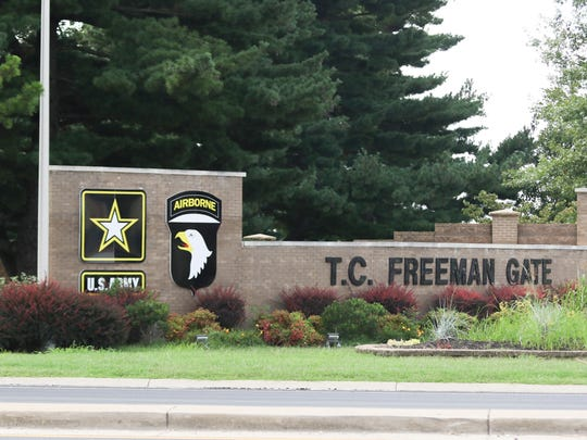 T.C. Freeman Gate, formerly known as Gate 4, is the main entrance for visitors coming onto Fort Campbell.