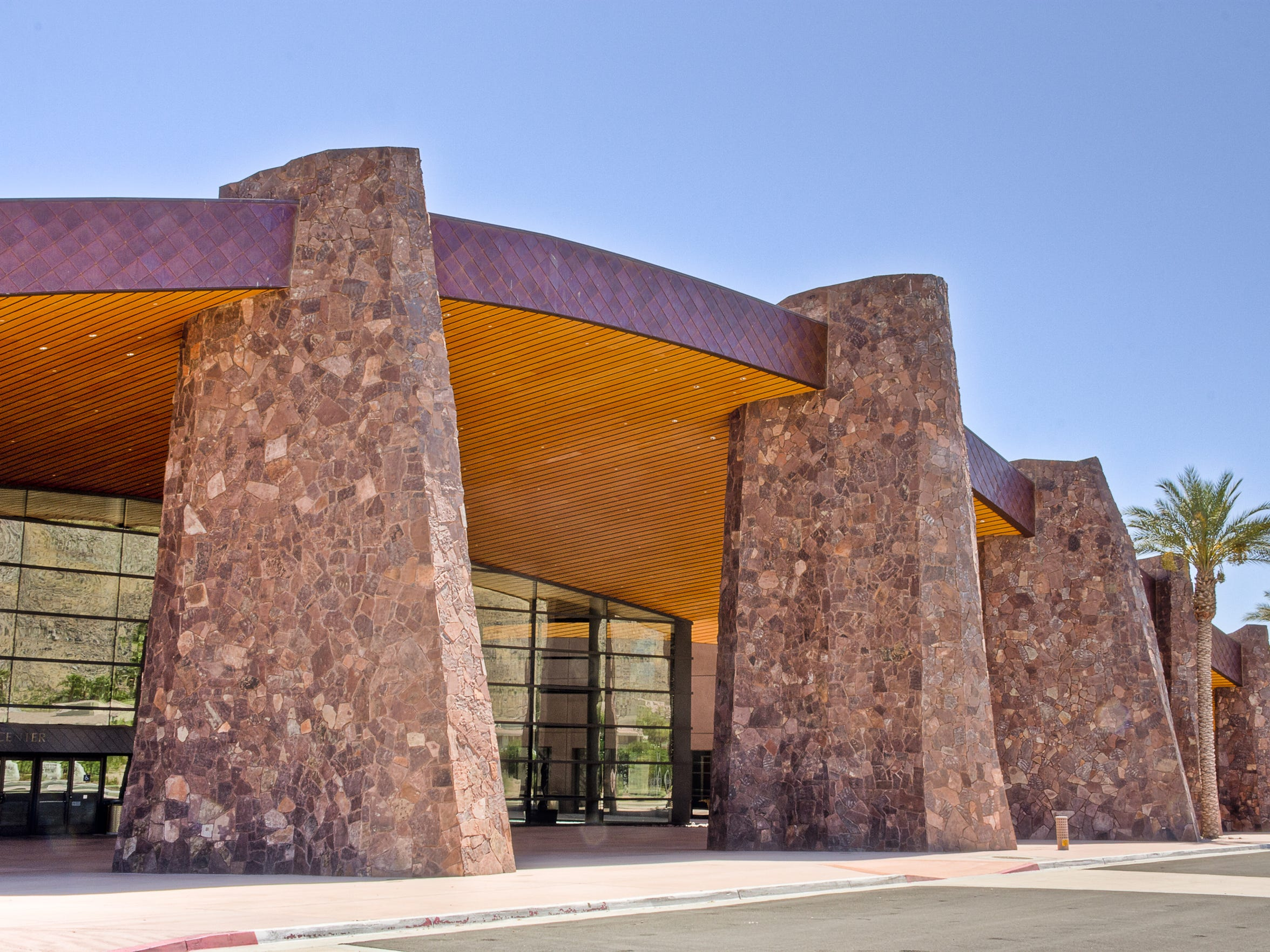 The Palm Springs Convention Center is built on land