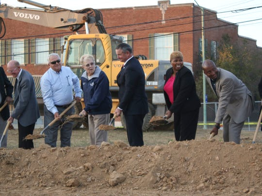 Around 200 people attended the Civic Plaza groundbreaking