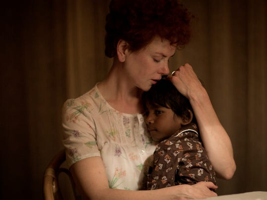 Sue (Nicole Kidman) embraces her adopted son Saroo