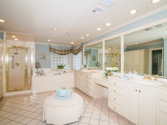 The master bath is a relaxing retreat in the home.