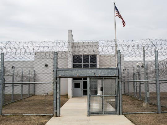 March 17, 2017 - A view of the main entrance to the DeSoto County Detention Center in Hernando.
